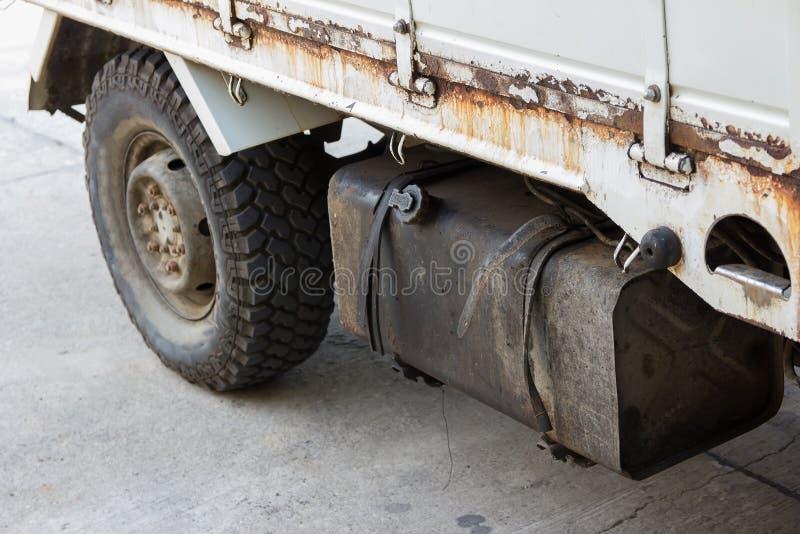 Réservoir et voiture d'essence photo libre de droits