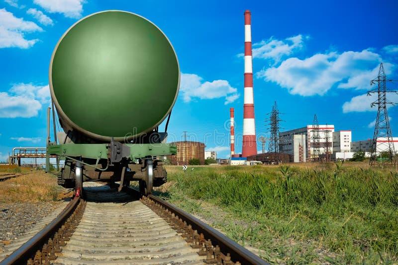 Réservoir ferroviaire image stock
