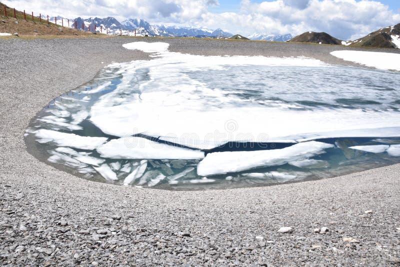 Réservoir glacial images stock