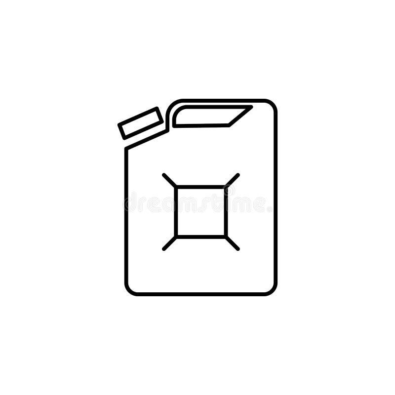 Réservoir, icône d'ensemble de gaz Peut être employé pour le Web, logo, l'appli mobile, UI, UX illustration libre de droits