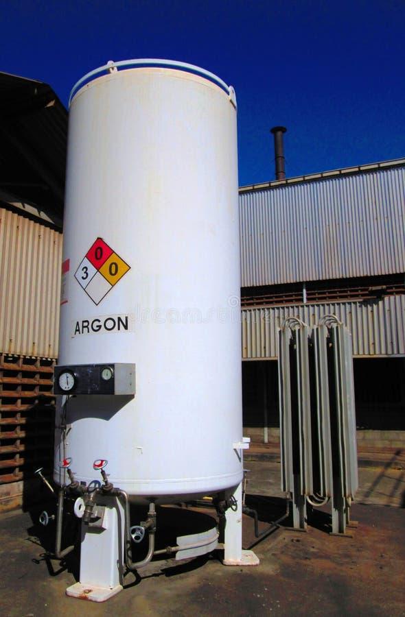 Réservoir industriel d'argon image stock