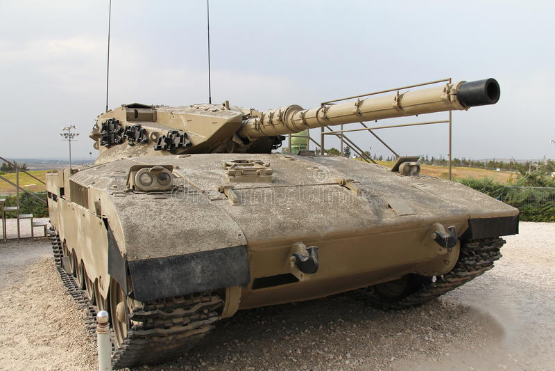 Réservoir israélien de Merkava Mk I images stock
