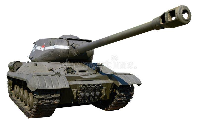 Réservoir lourd soviétique IS-2 de la deuxième guerre mondiale photographie stock libre de droits