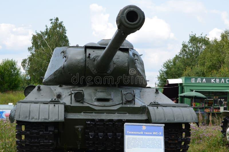 Réservoir lourd soviétique IS-2 photographie stock