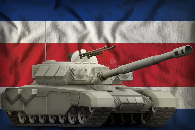 R?servoir lourd sur le fond de drapeau national de Costa Rica illustration 3D illustration libre de droits