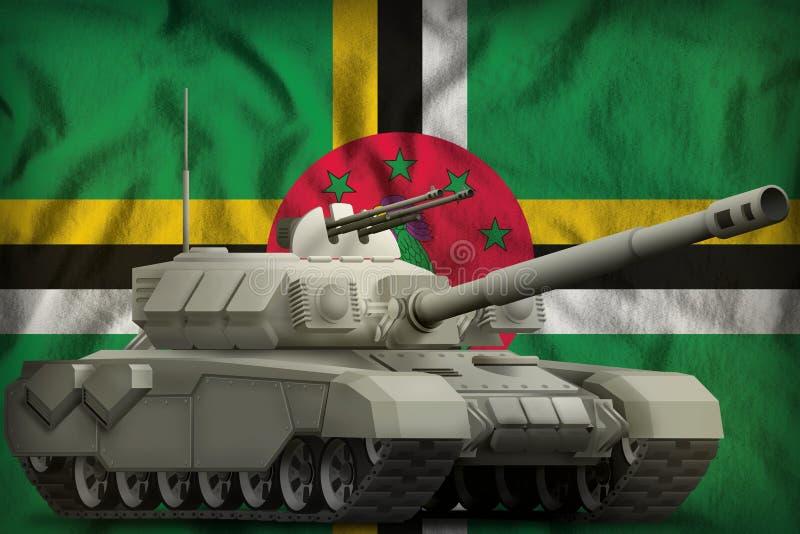 R?servoir lourd sur le fond de drapeau national de la Dominique illustration 3D illustration stock