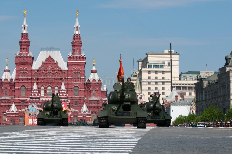 Réservoir moyen soviétique légendaire T-34 photo libre de droits