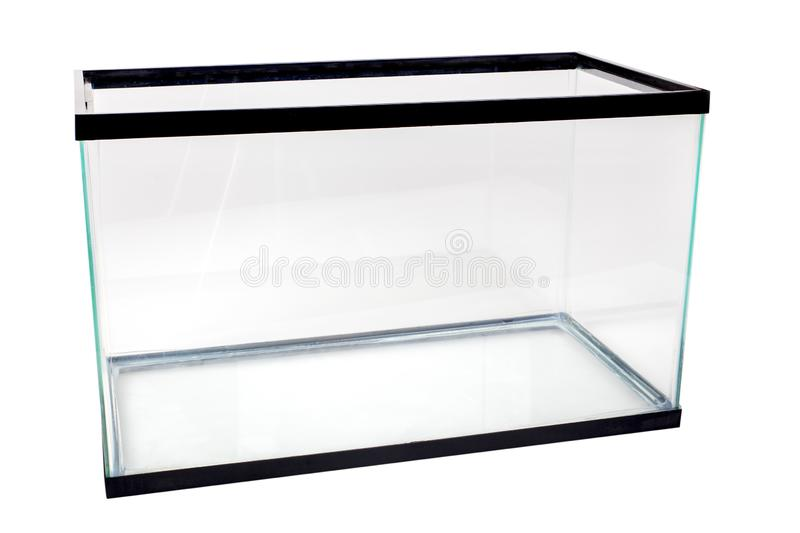 Réservoir vide d'aquarium images stock