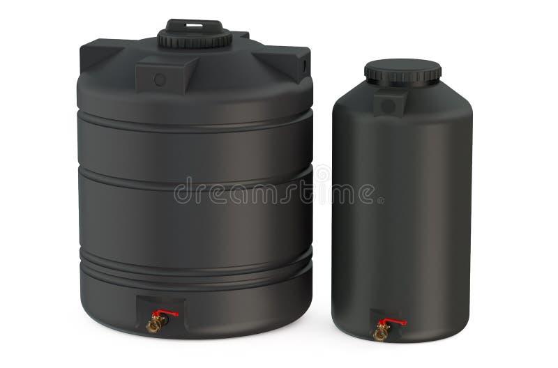 Réservoirs d'eau noirs illustration libre de droits