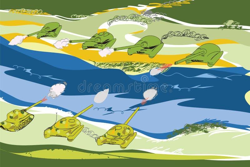 Download Réservoirs Dans La Bataille Illustration de Vecteur - Illustration du dessiné, réservoirs: 56476668