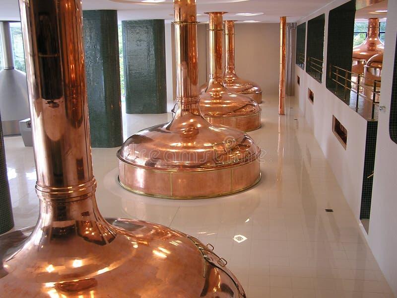 Réservoirs de brasserie de bière photographie stock libre de droits