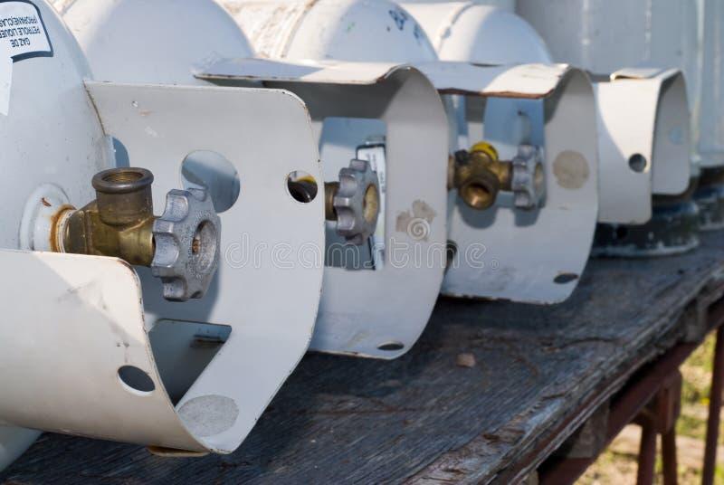 Réservoirs de propane image stock