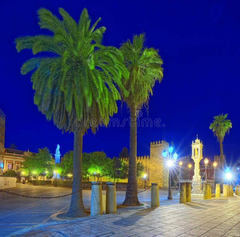 Résidence médiévale des Rois espagnols Alcazar royal de Séville S photos libres de droits