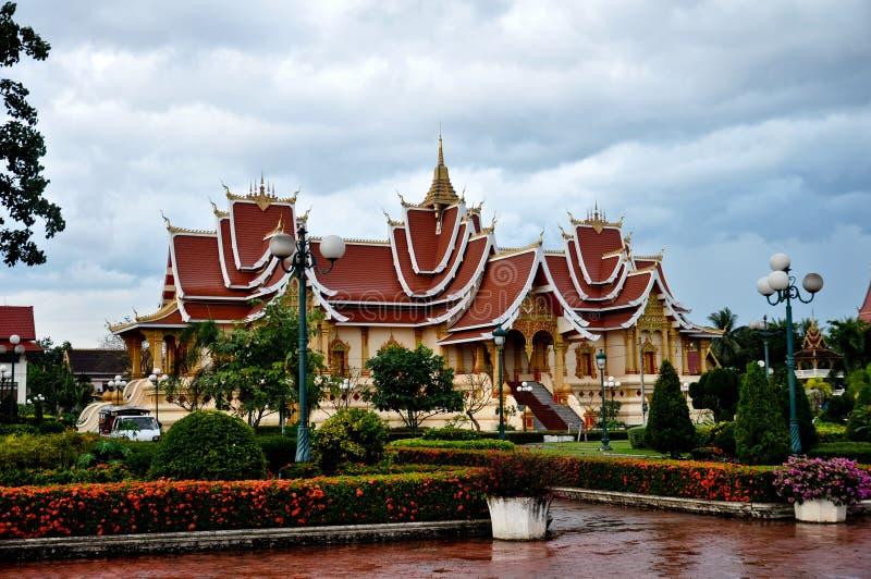 Résidence Pha qui Luang, Laos photo stock