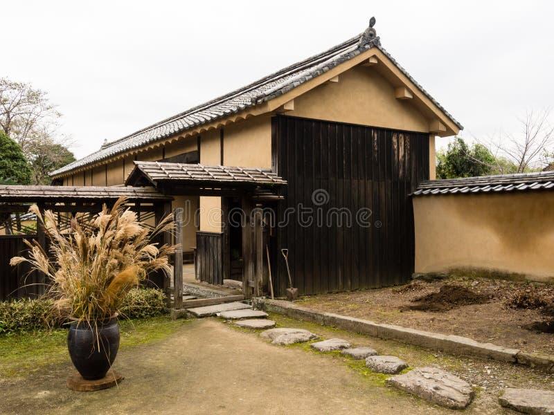 Résidence samouraï japonaise traditionnelle dans Kitsuki, préfecture d'Oita images stock