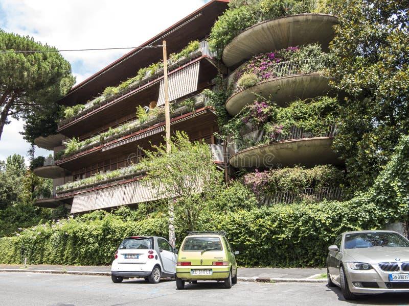 Résidence verte à Rome images libres de droits