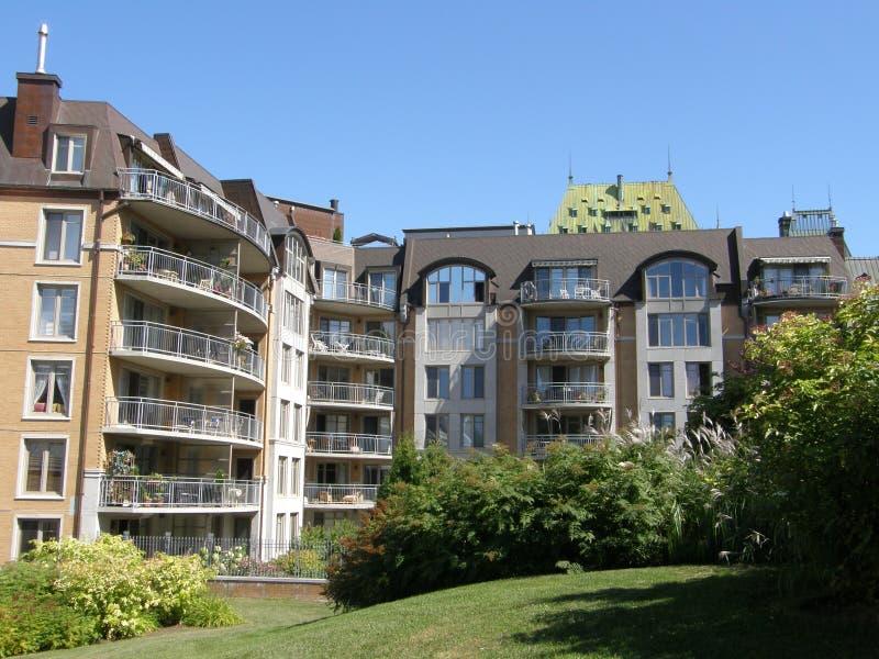 Résidences à Quebec City photographie stock libre de droits