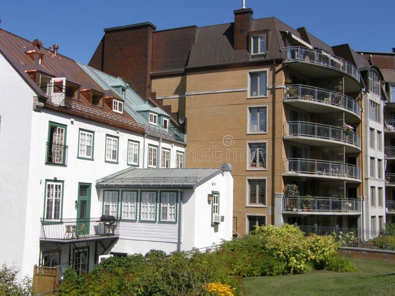 Résidences à Quebec City images stock