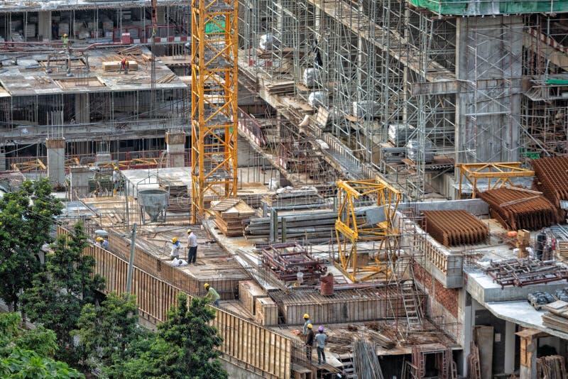 Résidences résidentielles en construction photos libres de droits
