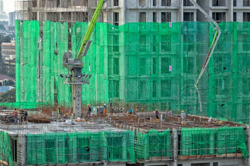 Résidences résidentielles en construction photographie stock libre de droits