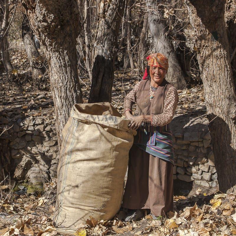 Résident de village de Jhong autour de Muktinath images stock