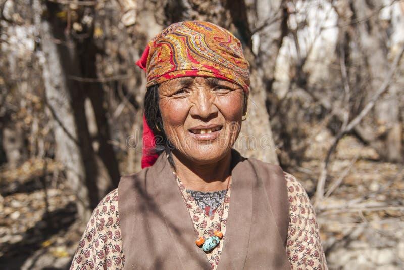 Résident de village de Jhong autour de Muktinath photo stock