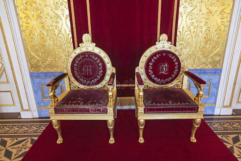 Résidenz de Munich - détail de la salle de réception royale images stock