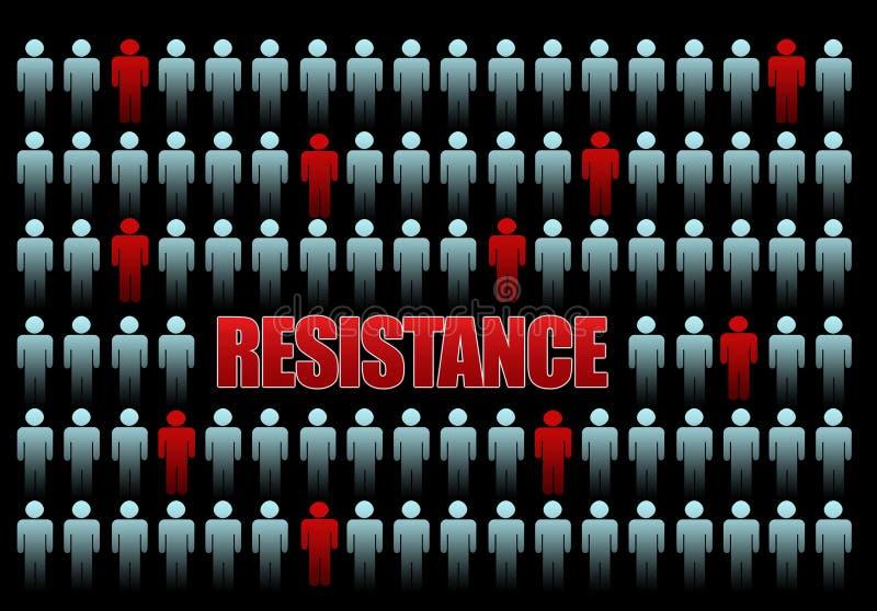 Résistance illustration libre de droits