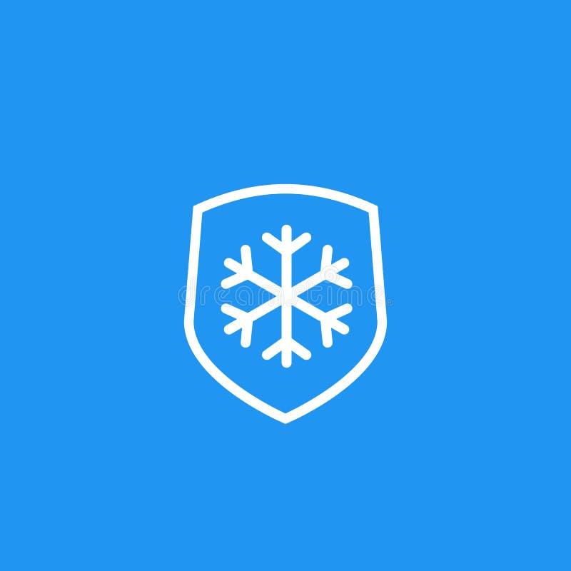 Résistant au gel, icône de résistance illustration stock