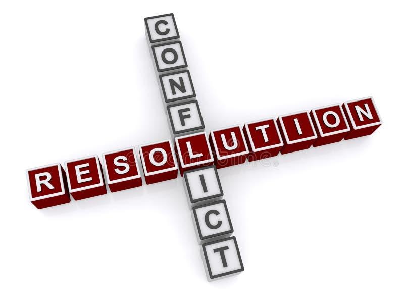 Résolution de conflits illustration de vecteur