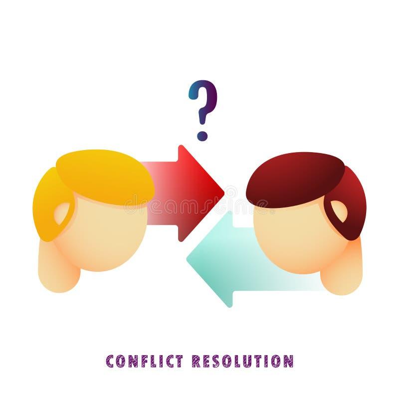 Résolution de conflits Vecteur plat gradient illustration libre de droits