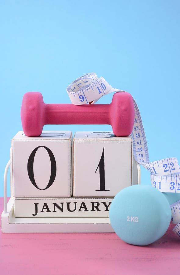Résolution de forme physique de nouvelle année photo libre de droits