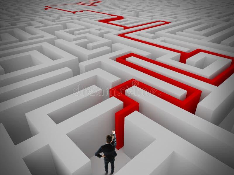 Résolution de labyrinthe illustration libre de droits
