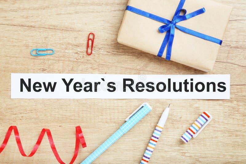 Résolutions d'an neuf photos libres de droits