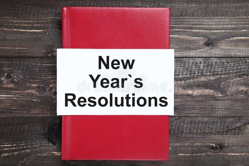 Résolutions d'an neuf images libres de droits