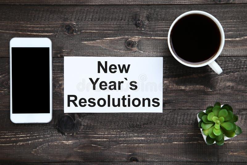 Résolutions d'an neuf photographie stock