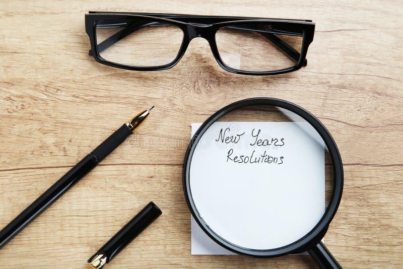 Résolutions d'an neuf image stock