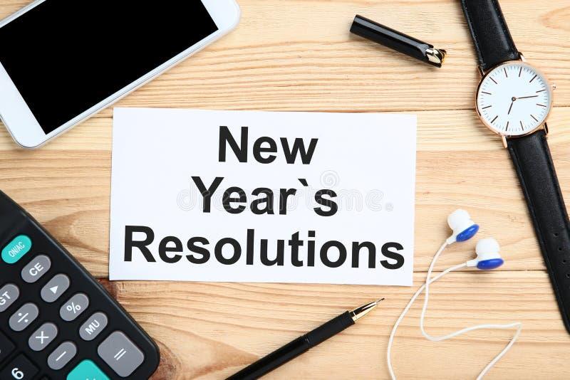Résolutions d'an neuf image libre de droits
