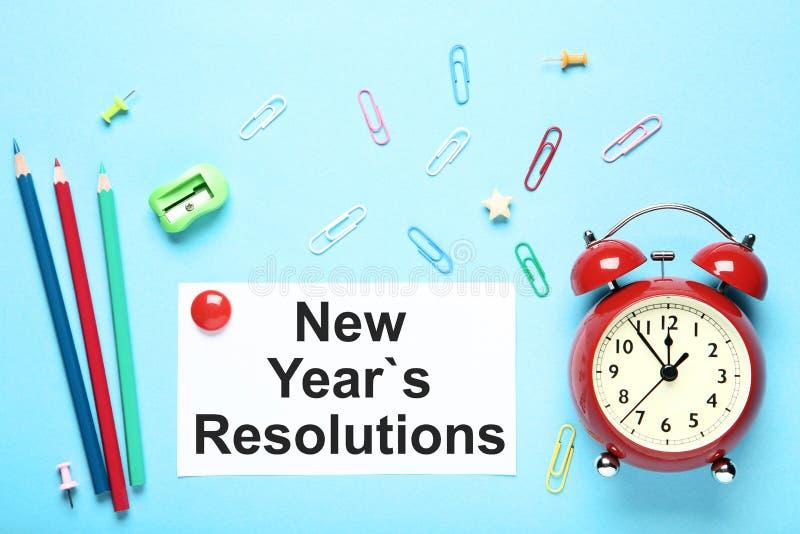 Résolutions d'an neuf photographie stock libre de droits