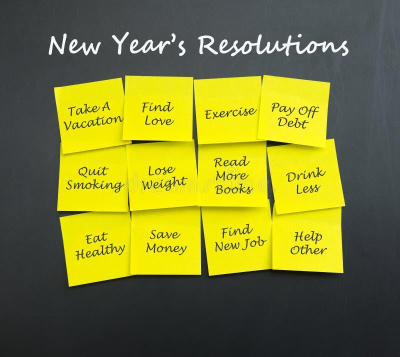 Résolutions d'an neuf photo stock