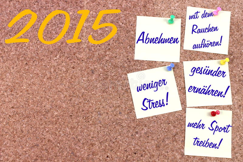 Résolutions de nouvelle année allemandes images stock