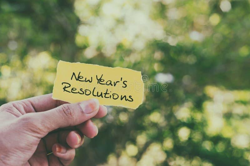 Résolutions du ` s de nouvelle année photo libre de droits