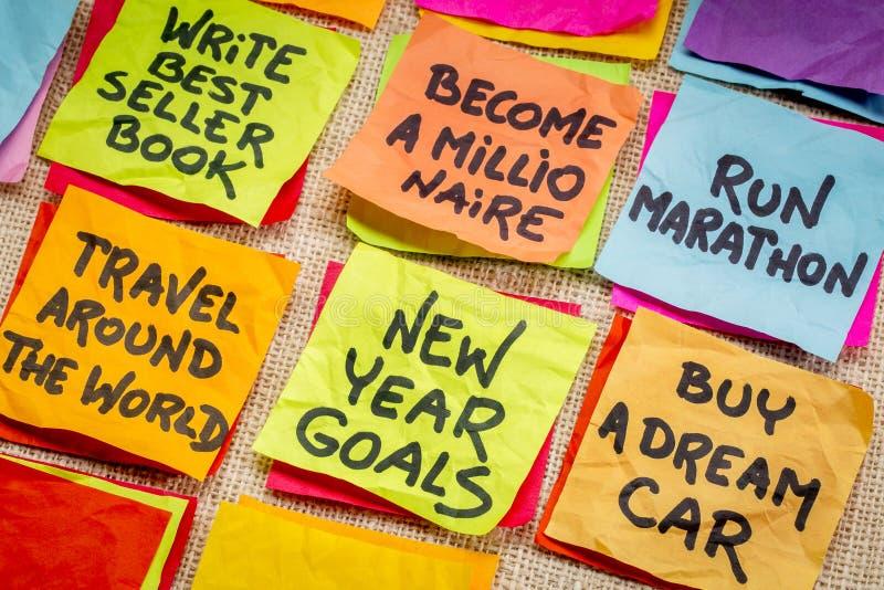 Résolutions irréalistes de nouvelle année photos stock