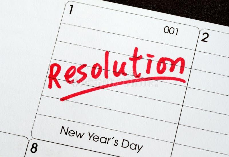 Résolutions pendant la nouvelle année images stock