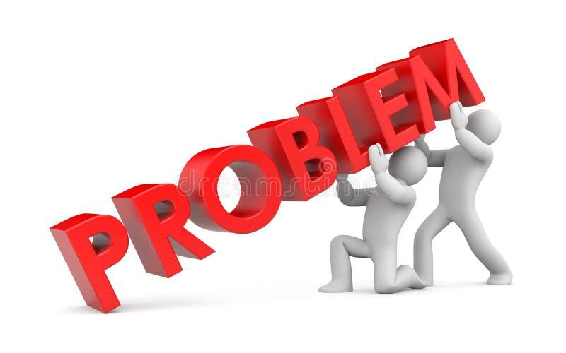 Résoudre le problème illustration stock