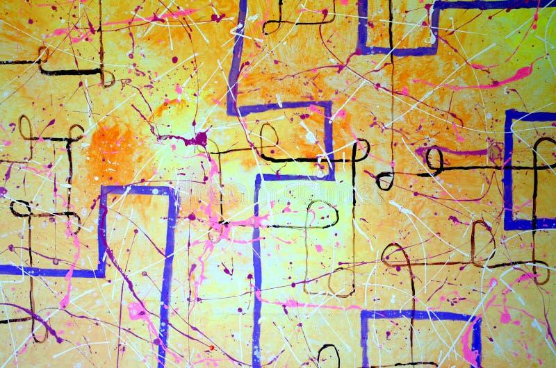 Résumé Art Peinture dessin Abstraction illustration Clipart, lumineux illustration libre de droits