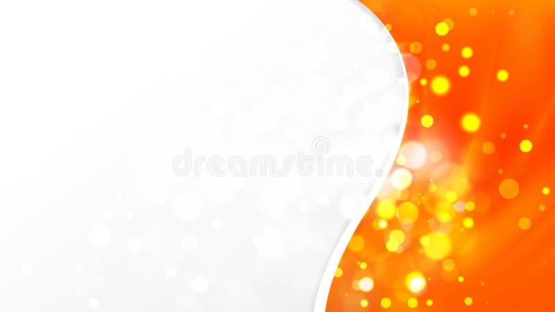 Résumé Bright Orange Business Brochure Template illustration libre de droits