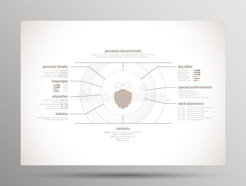 Résumé - curriculum vitae illustration de vecteur