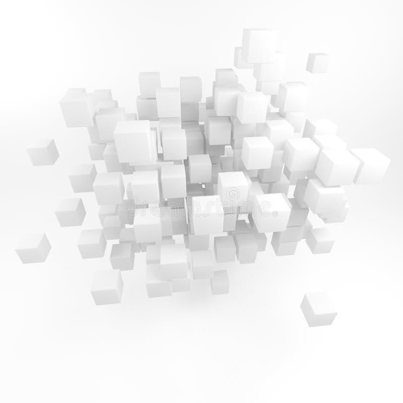 Résumé d'un grand nombre de places. 3D rendent. illustration stock
