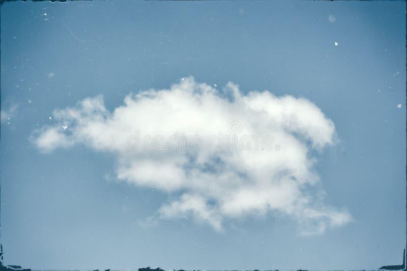 Résumé d'une photo grunged de cloudscape images libres de droits